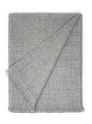 Alpaca Home | Liam Baby Alpaca Throw Blanket | 4-Season | 100% Baby Alpaca Wool | 6 Feet Long X 4.25 Feet Wide | Hypoallergenic, Soft & All-Natural (Quiet Moments)