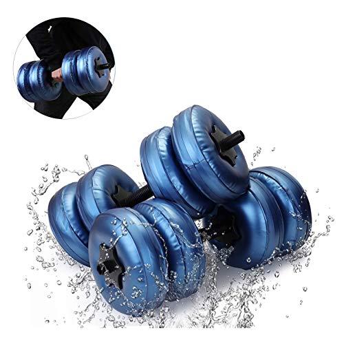 XRTJ 2 Piezas Mancuernas llenas de Agua,Ajustables Pesas con Mancuernas para Entrenamiento Muscular Gimnasio en casa Fitness Juego-,15-20kg