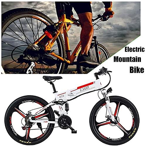 Bicicleta electrica Bici de montaña eléctrica plegable Bicicleta eléctrica para adultos Dual Dual Disc frenos Suspensión bicicleta aluminio aleación marco inteligente lcd medidor 7 velocidades engrana