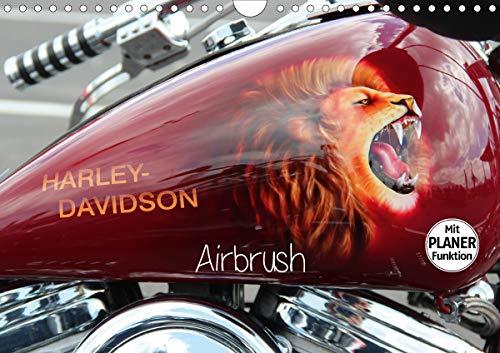 Harley Davidson - Airbrush (Wandkalender 2021 DIN A4 quer)
