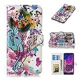 EWCover Coques Portefeuille pour Samsung Galaxy A9 2018,Coques Cuir coloré 3D Motif Floral for...