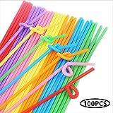 Tweal Cannucce di plastica,100 Pezzi Cannucce USA e Getta Flessibili Cannucce Multicolori ...