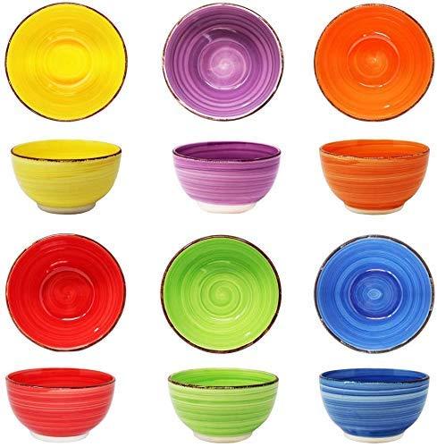 6er set Schalen Müslischalen aus Porzellan,500 ml, Dessertschale,Snackschale Eisschale, Schüssel, Servierschalenset runde, Ø 15 cm für Frühstück Schüsseln für Obst-Salat, Müsli & Geschirr Gastronomie