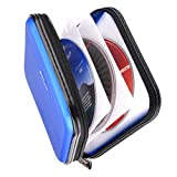 XiongYe CD DVD Wallet, 32 Capacity Heavy Duty, DVD CD Case Holder for Car,Portable DVD/VCD Storage Disk, Hard Shell Sturdy case, Car CD Disk Holder, Booklet, Blu-ray Wallet (32 Capacity,Blue)