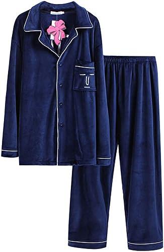 Meaeo Pyjama Homme, Ensembles De Pyjama, HabilleHommest Sommeil, VêteHommests De Nuit, Robe De Nuit, Robe De Soirée, Hiver, Flanelle Peignoir Chaud