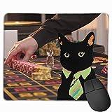 Fichas de apuestas de casino Diseños de personalidad antideslizantes Alfombrilla de ratón para juegos Rectángulo de tela negra Alfombrilla de ratón Alfombrilla de ratón de goma natural con bordes cosi