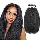 10a afro brésilien crépus Cheveux raides Regroupe 3 lots 100% non transformés spirale Curl Vrais Extensions de cheveux humains naturels tissage Kinky straight Human Hair Bundles 10 12 14 inch