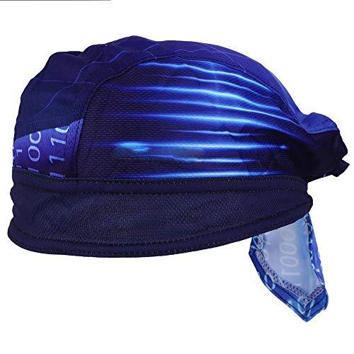 Zer one Deportes al Aire Libre Casquillos de Secado rápido Capucha Azul...