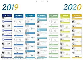 Calendrier Septembre 2020 Aout 2019.Amazon Fr Oberthur Oberthur Calendriers Agendas Et