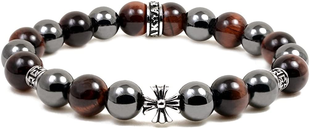 Accents Kingdom Magnetic Max 89% OFF Bracelet Red Cro Bead Tiger Eye Max 49% OFF Maltese