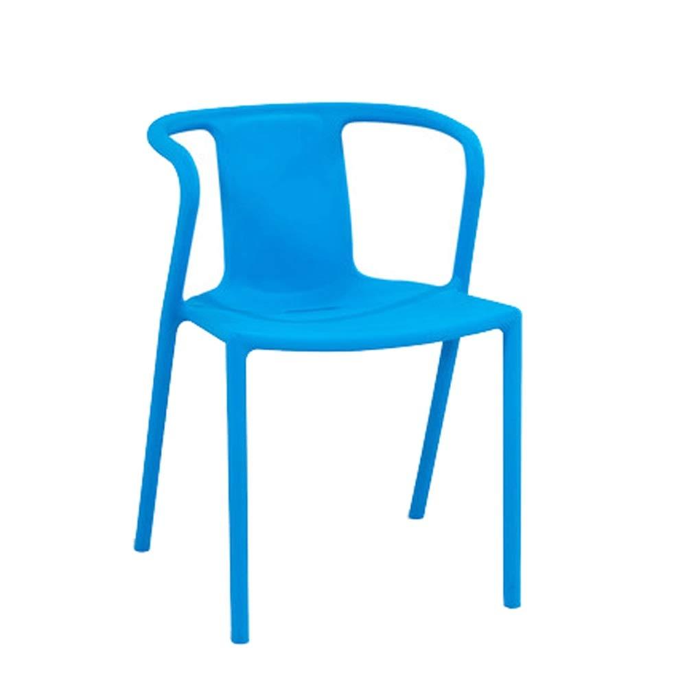 Ligeras Silla Silla De Plástico para Adultos - Sillón Creativo para Comedor/Inicio/Ordenador/Atrás/Jardín/Exterior Negro 44x44x72CM Desmontable Muebles Sala (Color : Blue): Amazon.es: Hogar