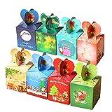kungfu Mall Scatole di Caramelle Natalizie 16 Pezzi Scatole bomboniere Scatole Regalo Caramelle per Regali di Natale