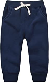JZLPIN Unisex Baby Pants Kids Cotton Trousers Elastic Waist Winter Sweatpants