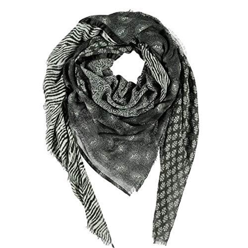 Passigatti Damen Woll Tuch Schwarz 180x180