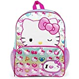 Hello Kitty Emoji Bright Color 16 inches Backpack for Kids Girls 2020