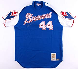 aef101b0b Hank Aaron Signed 1974 Milwaukee Atlanta Braves Throwback Jersey JSA LOA