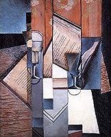 17 世界の名画 - ¥4K-150k 手書き-キャンバスの油絵 - アカデミックな画家直筆 - the book 1913 キュービズム 抽象画 - 絵画 洋画 複製画 -サイズ02