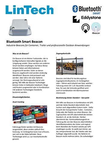 LinTech Bluetooth BLE Smart Industrie Beacon IP66-ABS, konfigurierbar (iBeacon; Eddystone)