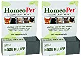 HomeoPet 2 Pack of Feline Nose Relief, 15 Milliliters Each, Homeopathic Remedy for Cats' Congestion, Runny Nose, Sneezing, and Sinus Infection