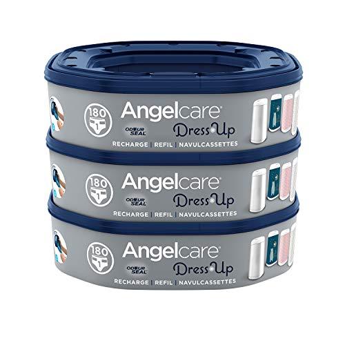 Angelcare - Dress Up - Recharges Octogonales pour Poubelle à Couche Dress up/Essential - Lot de 3