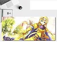 ソードアートオンラインマウスパッド大型大型光学式、ゴム素材、清潔、滑り止め耐久性、キーボードパッド、デスクトップパッド-A_800*400*3