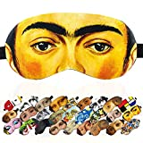 Sleep Mask Masterpieces for Women Children Kids - 100% Soft Cotton - Comfortable Eye Sleeping Mask Night Cover Blindfold for Travel Airplane (Frida Kahlo, Gift Pack)
