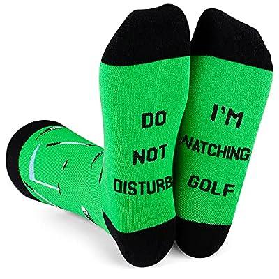 Amazon - 50% Off on Funny Socks for Men Women Do Not Disturb I'M Playing Golf Baseball…