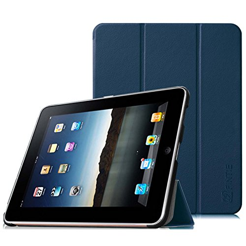 FINTIE Slimshell Case for Original iPad 1 - Super Thin Lightweight PU Leather Stand Cover for Apple iPad 1 1st Generation 2010, Navy