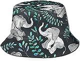Sombreros para hombres al aire libre sombrero de pescado, sombrero de ala ancha, sombrero de sol de Las Vegas Skyline-Laughing Baby Elephants Impreso