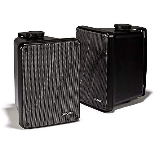 Find Discount Kicker KB6000 2-Way Full Range Indoor Outdoor Marine Speakers (Pair) | Weatherproof Pa...