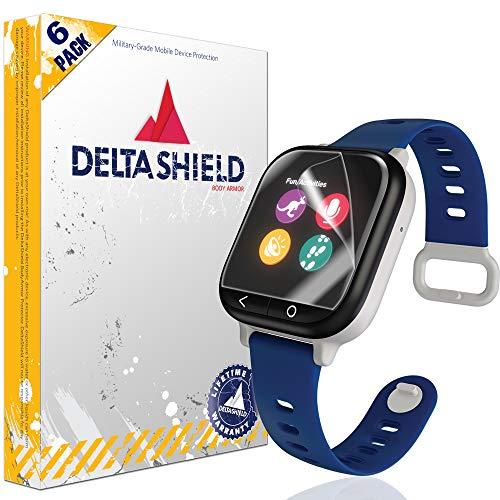 DeltaShield Screen Protector for Verizon GizmoWatch (6-Pack) BodyArmor Anti-Bubble Military-Grade Clear TPU Film