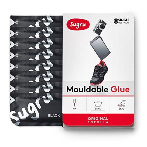 Sugru Moldable Glue - Original Formula - All-Purpose Adhesive, Advanced Silicone Technology - Holds up to 2 kg - Black 8-Pack