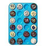 Mini-Muffinform für 24 Muffins, Silikon-Backform, Seifenschale, antihaftbeschichtet, spülmaschinenfest