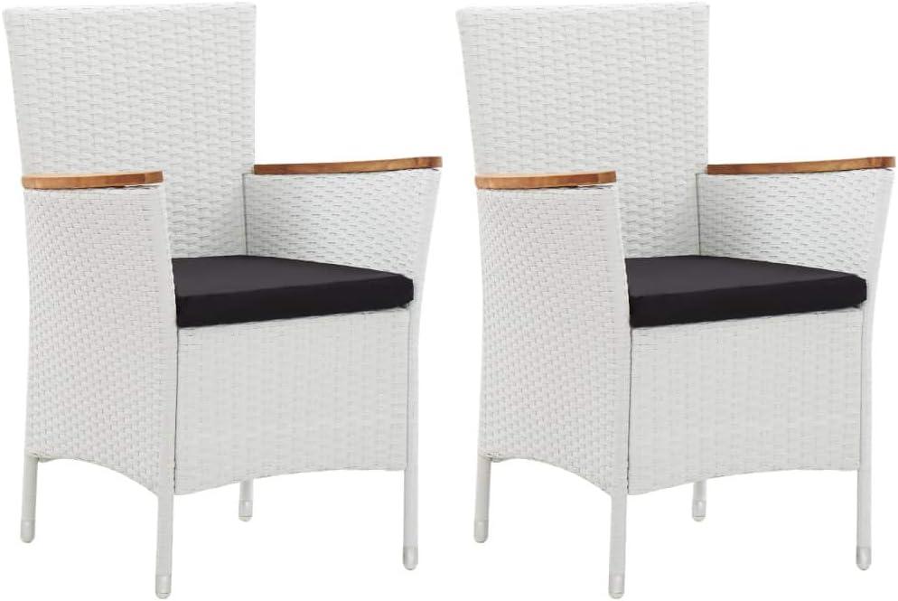 vidaXL Modern Outdoor Wicker Manufacturer regenerated product Patio Furniture pcs Bistro Sets R Max 57% OFF 2
