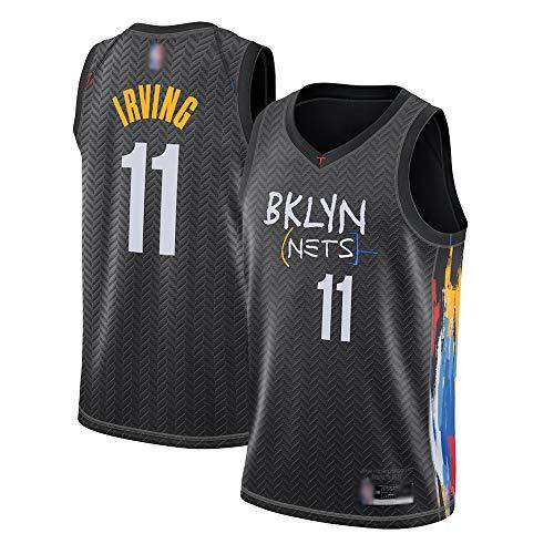 XXMM Camiseta De Baloncesto para Hombre, NBA Brooklyn Nets 11# Kyrie Irving Jersey Jersey Outdoor Outdoor Deportes De Manga Corta Top, Chaleco De Secado Rápido Uniforme De Entrenamiento,M(170~175CM)