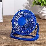 MEISISLEY Mini Ventilador De Mesa Ventilador USB Escritorio Ventiladores de refrigeración Mini Ventilador de Escritorio USB Blue