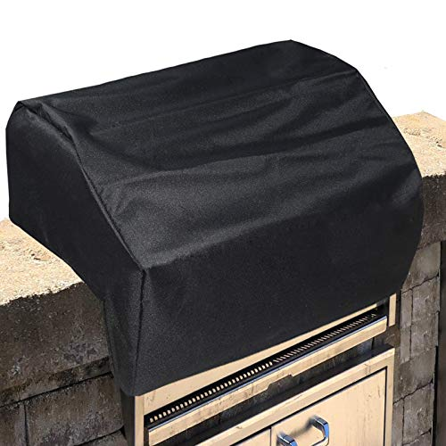 Mini Lustrous Built-in Grill Cover Compatible with Bull 38 Inch Brahma and Renegade Grill Head Models, Heavy Duty Waterproof BBQ Grill Top Cover