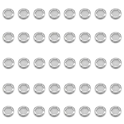 Rejilla de Ventilación Redonda de Acero Inoxidable Agujero de Ventilación Rejilla de Ventilación Orificio de Ventilaciónpara Cocina Baño Gabinetes Guardarropa Zapatero Librería Mueble 40 Piezas(35mm)