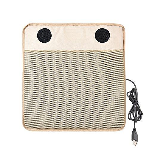 Verkoelend zitkussen, USB, met 2 Hi-Speed ventilatoren, ademend, voor kantoor, auto, restaurant, thuis, 1 stuk