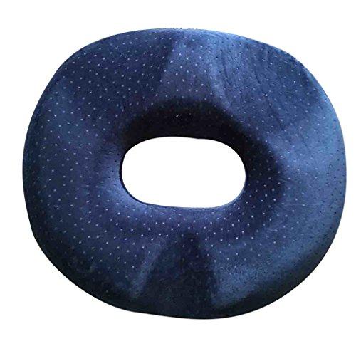 Hämorriden Orthopädische Memory Schaum Stuhlkissen Sitzkissen Sitzring Ringe - Purplish Blau