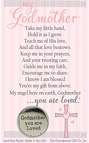 Godmother You Are Loved Pewter Coin with Sentiment Card