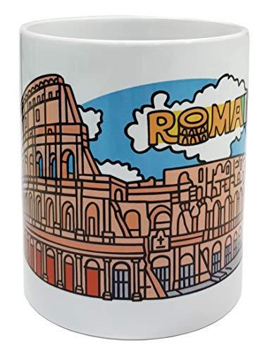 DONSOUVENIR Taza MUG Roma. Modelo: Coliseo DE Roma. MUG