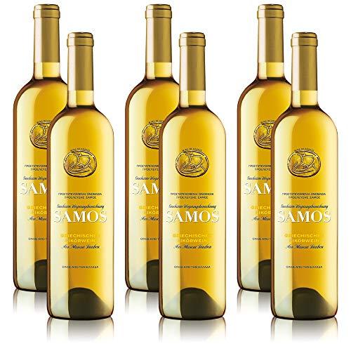 6 Flaschen Kourtaki Samos, süss, griechischer Weisswein (6 x 0,75 l)