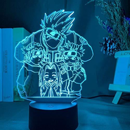 GSYHZL 3D Anime Lamp Figure Kids Bedroom Nightlight Led Touch Sensor Room Lighting Anime My Hero Academia Gift Led Night Light Dropship-I_7 colors no remote_China