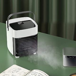 QQEER Enfriador de Aire portátil, Mini acondicionador de Aire del Ventilador, silencioso refrigerador evaporativo, Acondicionador de Aire móvil, Touch Control de Velocidad del Ventilador 3 para,White