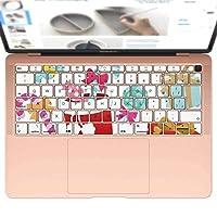 igsticker MacBook Air 13inch 2018 専用 キーボード用スキンシール キートップ ステッカー A1932 Apple マックブック エア ノートパソコン アクセサリー 保護 009266 クリスマス カラフル