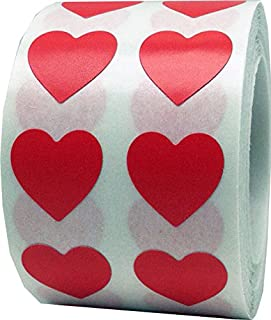 Red Heart Stickers Valentine's Day Crafting Scrapbooking 0.50 Inch 1,000 Adhesive Stickers