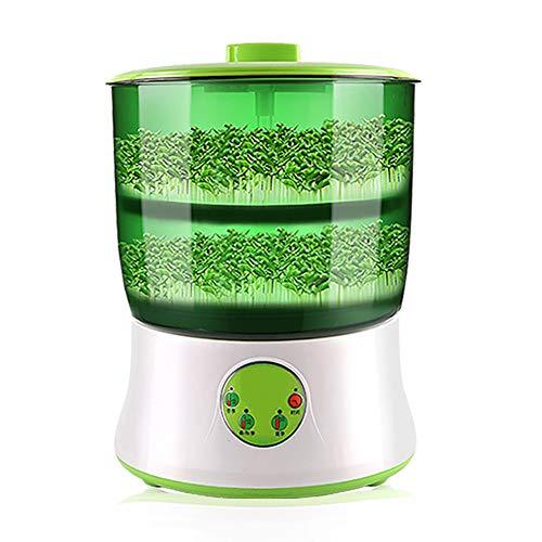 JAYI Bohnensprossen Maschine, 2 Schichten Automatic Bean Sprout-Maschine, Elektrische Haushaltsbohnensprossen Maschine Intelligente Bohnensprossen Maschine, Keimungzeit 2,5-6 Tage (110-220V)