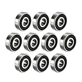 uxcell 6200-2RS Ball Bearing 10mm x 30mm x 9mm Double Sealed 180200 Deep Groove...