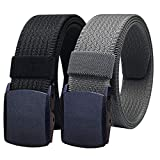 WYuZe Mens Nylon Web Belt No Metal Nickel Free Military Tactical Hiking Belt
